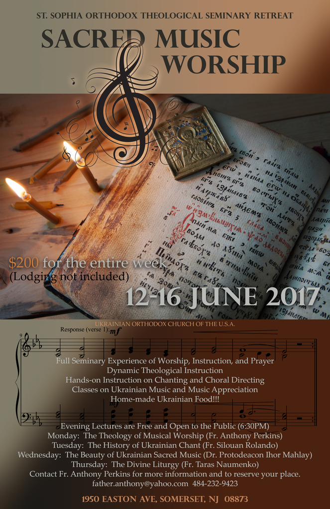 12 16 June 2017 Seminary Retreat Sacred Music And Worship St